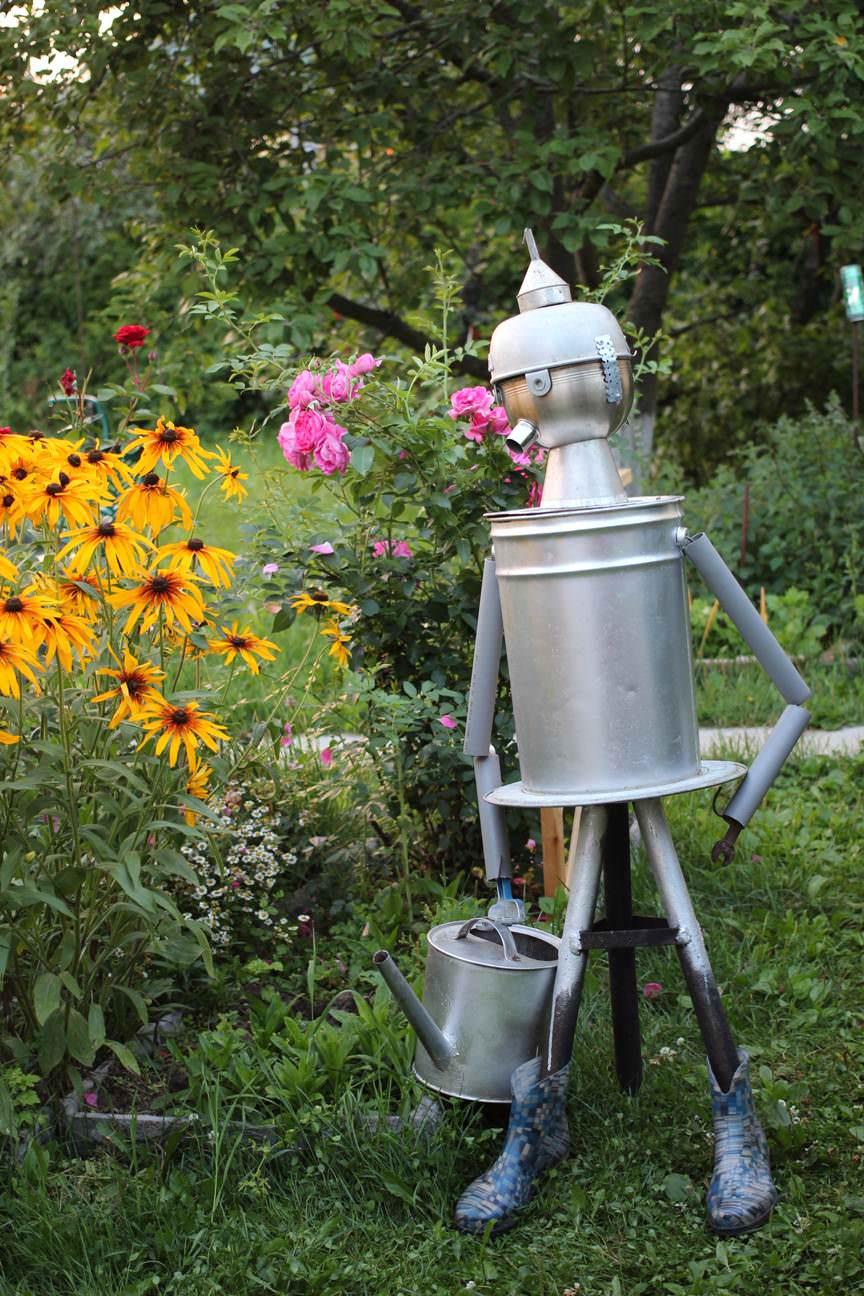 У нас на даче есть даже робот