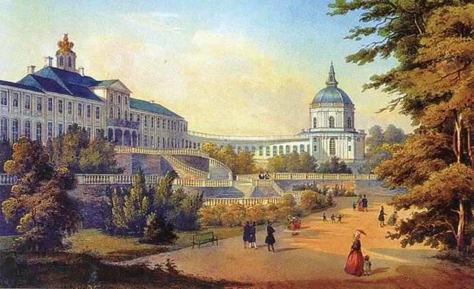 В 1714 году Меньшиков построил дворец с большими оранжереями в городе под названием Апельсиновое дерево - это Ораниенбаум