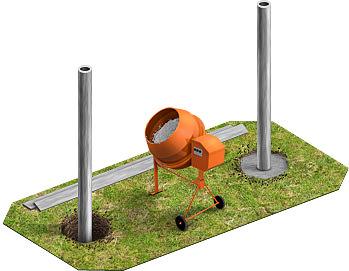 Бетонируем столбы под частокол, неважно из какого материала они выполнены