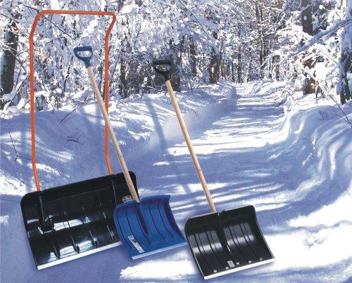 Лопата-снегоуборщик с успехом используются для уборки территорий