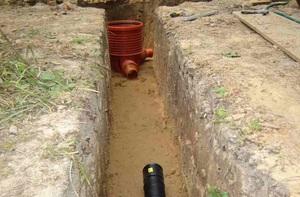 Дренажная система на глинистой почве