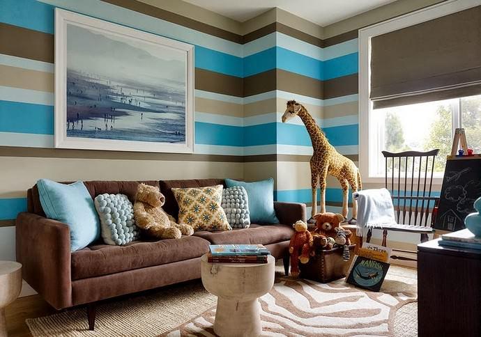 Подбор цветового решения проводят с учетом размеров комнаты