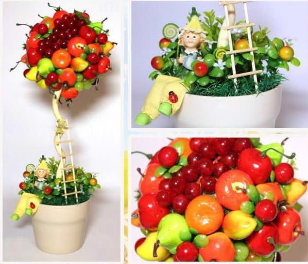 Изготовление фруктового топиария – простой и увлекательный процесс