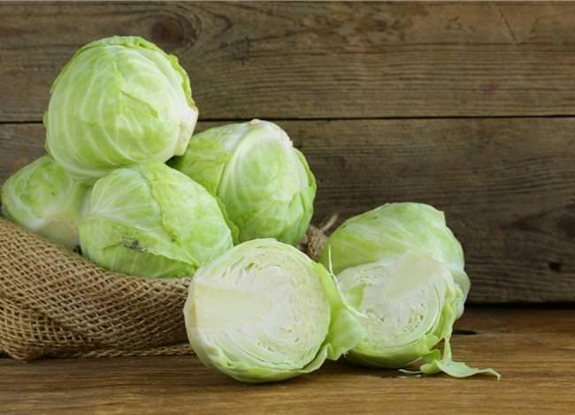 В белокочанной капусте содержится большое количество витаминов, микро- и макроэлементов