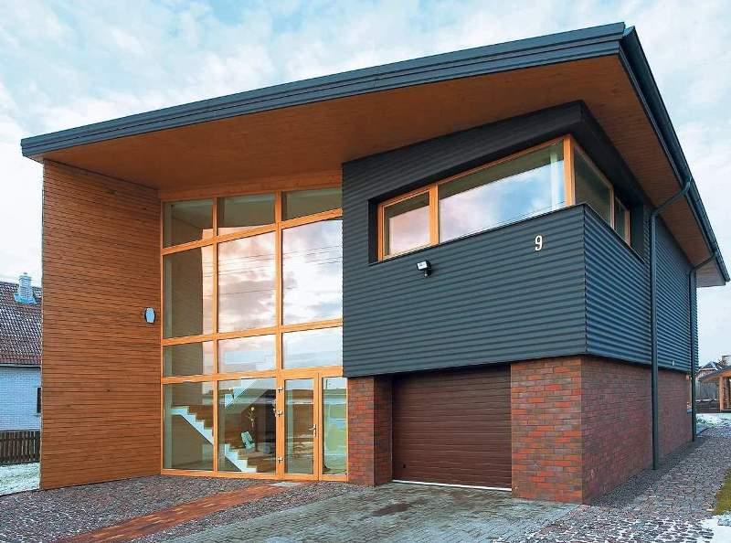 Панели используются как при устройстве вентилируемого, так и обыкновенного фасада