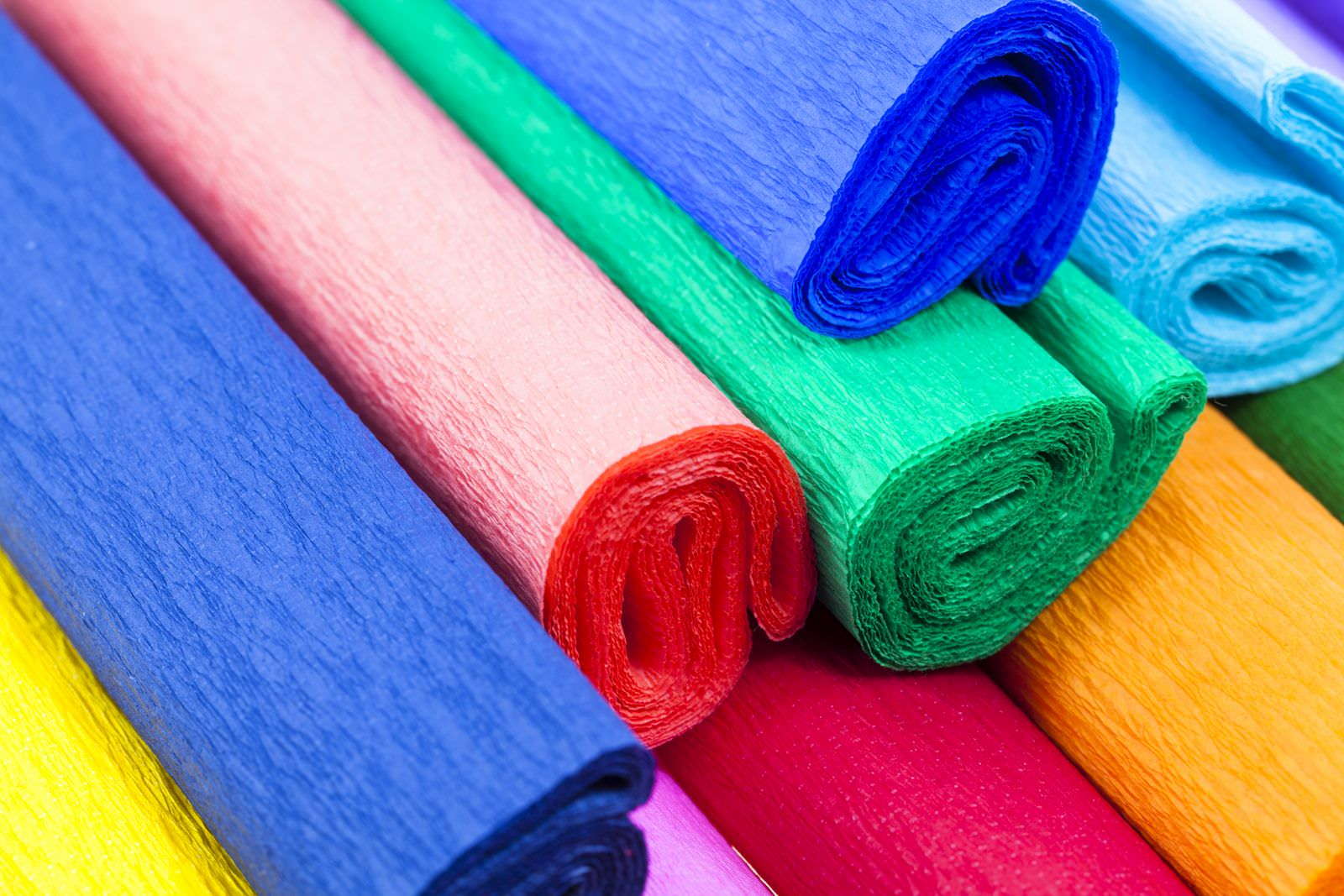 Гофрированная бумага превосходно подходит для творчества