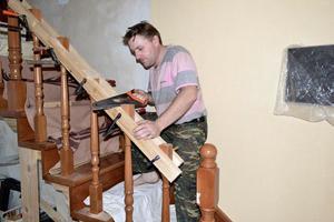 Изготовление поручней для лестницы
