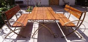 Изготовление садовых скамеек  из металла