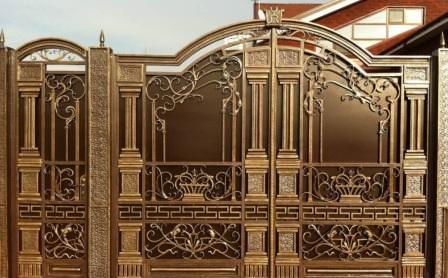 Кованые ворота - это визитная карточка владельца загородного участка
