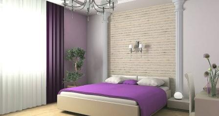 Комбинирование обоев двух цветов подчеркивает индивидуальность каждой комнаты