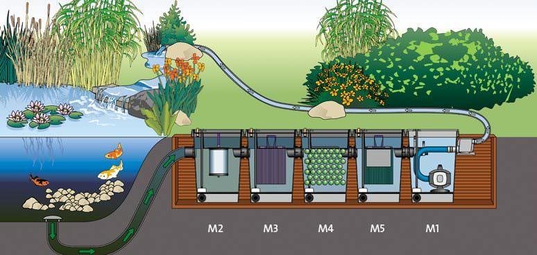Очень важно обеспечить в водоеме постоянную циркуляцию и движение воды