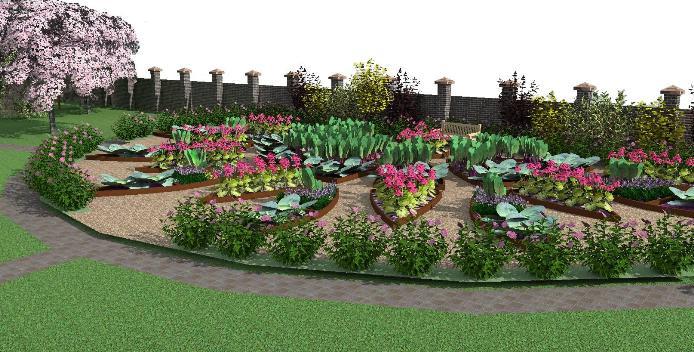 Такой огород имеет игривый характер. Он сам по себе несет декоративную функцию