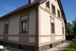 Описание оштукатуренных фасадов