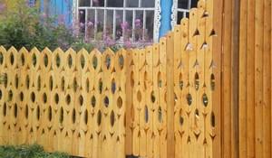 Оригинальные деревянные заборы