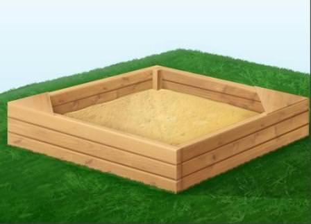 Обыкновенная песочница для детей — стандартный и недорогой вариант