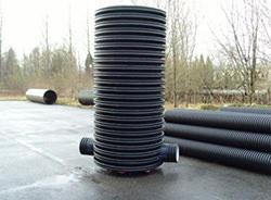 Полимерные колодцы активно используются в системах хозяйственно-бытовой и ливневой канализации