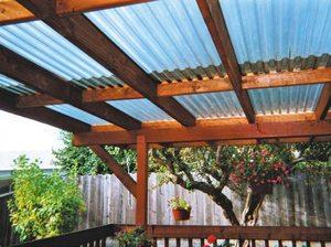 Прозрачная крыша для перголы