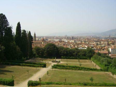 Сады Боболи с высоты