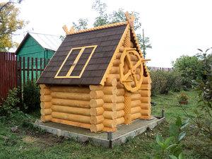 Как сделать домик на колодце