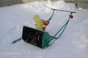Снегоуборщик из бензопилы своими руками