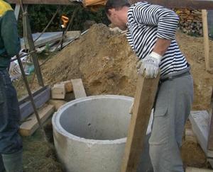 Строительство колодца из бетонных колец на даче своими руками