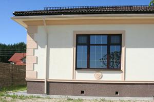 Варианты декорирования фасада дома