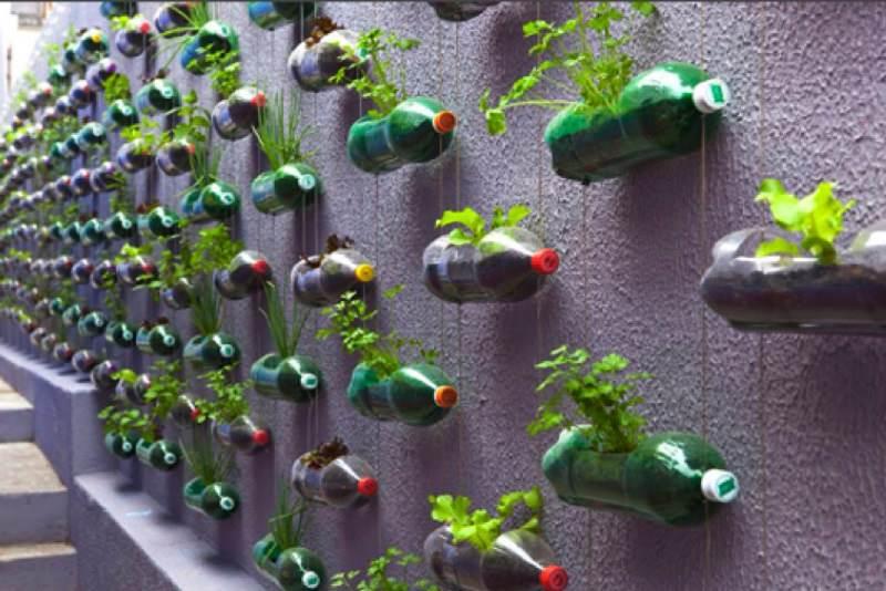 Один из самых простых и дешевых вариантов: использование пластиковых бутылок