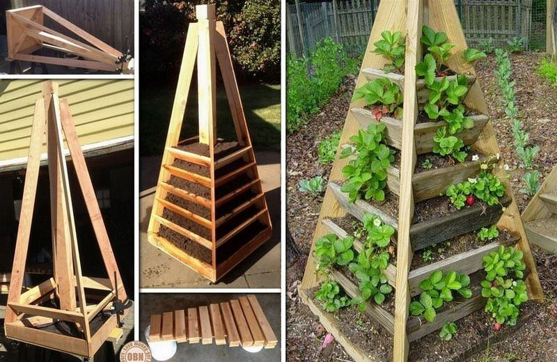 Вертикальная грядка нужна при отсутствии площадей для разбивки огорода