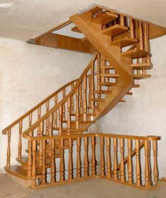 Рекомендуется исключать такой элемент из винтовой лестницы, как подступеньки