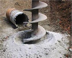 Бурение колодцев проводится путём опускания бура в скважину