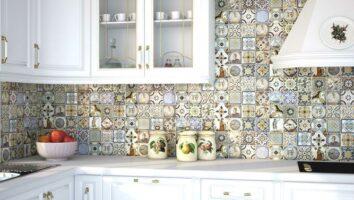 кухонный фартук из плитки (фото)